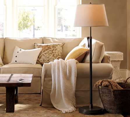 Sutter Adjustable Lever Floor Lamp Base - Pottery Barn