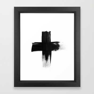 "FRAMED ART PRINT/ VECTOR BLACK MINI (10"" X 12"") - Society6"