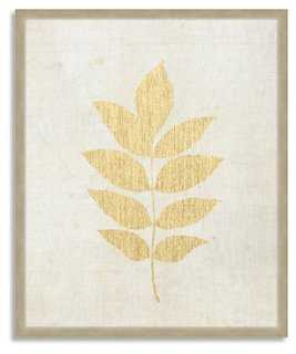 Plant Study II - Linen/Gold - One Kings Lane