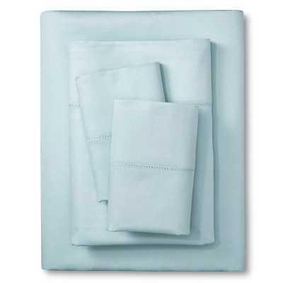 Elite Home Hemstitch Solid 400TC Sheet Set - lite blue, King - Target