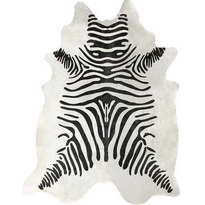 nuLOOM Hand-picked Brazilian Black / White Zebra Cowhide Rug - Overstock