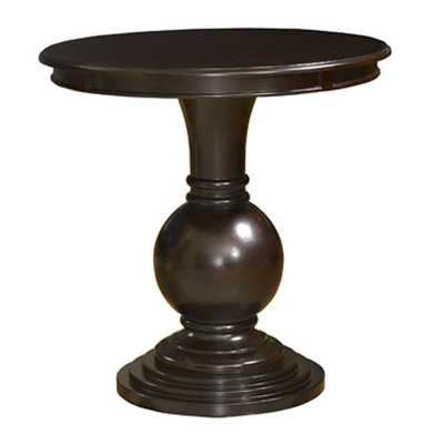 Contemporary Espresso MDF Plywood Round Accent Table - theclassyhome.com