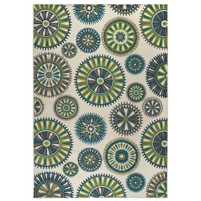 Rizzy Home Glendale Collection Power-loomed Blue/ Ivory Medallion Area Rug - Overstock