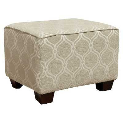Little Castle Ottoman with legs- Beige - Target