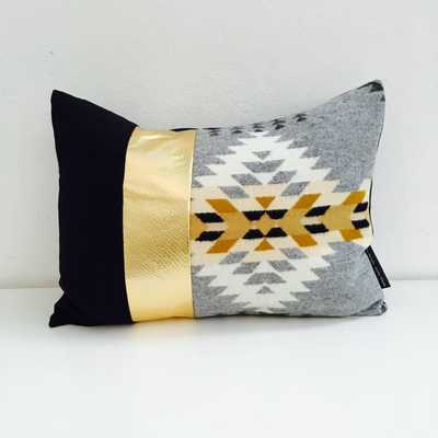 """Grey Aztec Tribal Throw Pillow Cover 14""""x18"""" - Grey and Black - Insert sold separately - Etsy"""