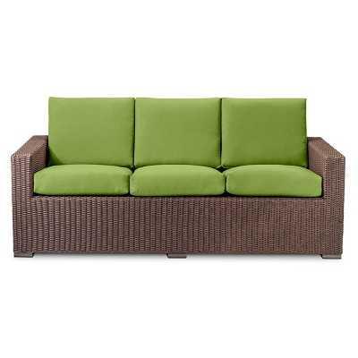 Threshold™ Heatherstone All Weather Wicker Sofa - Green - Target