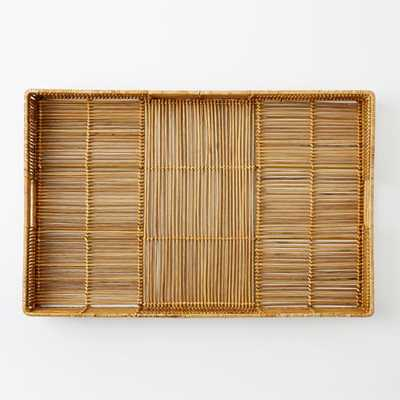 Woven Rattan Tray - Rectangle - West Elm
