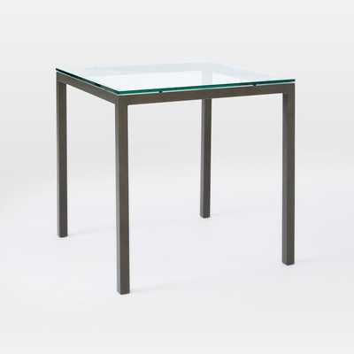 Box Frame Square Dining Table – Glass - West Elm