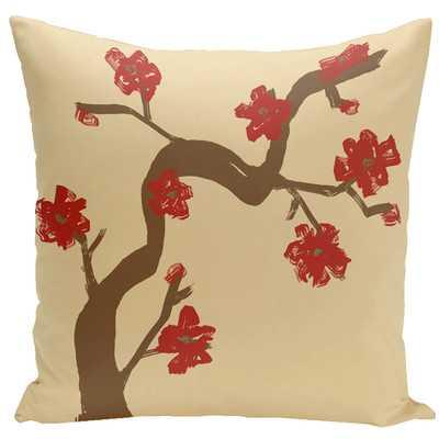 "Floral Hypoallergenic Throw Pillow - 20""x20"" - Polyfill - Wayfair"