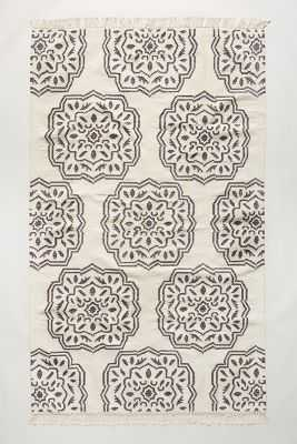 Floriate Medallion Rug - Cream - 8' x 10' - Anthropologie