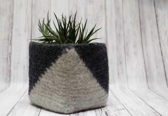 Felted Wool Basket - Etsy