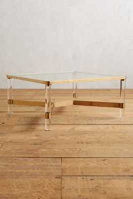 Oscarine Lucite Coffee Table, Square - Anthropologie