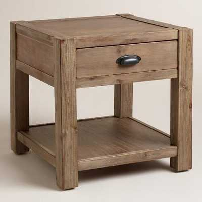 Wood Quade End Table - World Market/Cost Plus