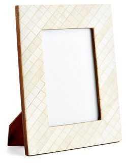 Darjeeling Carved Frame, 4x6, Ivory - One Kings Lane