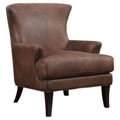Leather Arm Chair - Java Brown - Wayfair