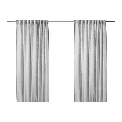 AINA Curtains, 1 pair, Gray - Ikea