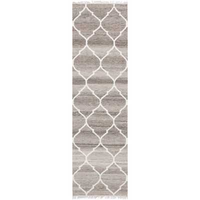 Safavieh Hand-woven Natural Kilim Light Grey/ Ivory Wool Rug (2'3 x 8') - Overstock