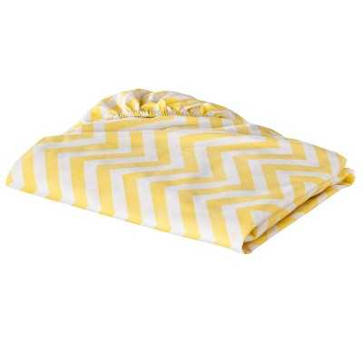 "100% Cotton Woven Chevron Fitted Baby Crib Sheet Circoâ""¢ - Yellow - Target"