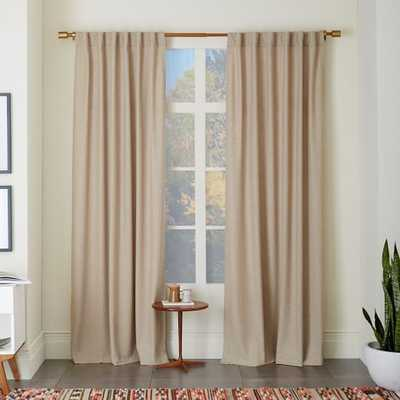 Heathered Wool Curtain - West Elm