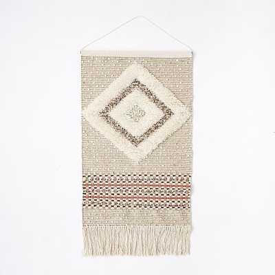 Sequin Shag Wall Tapestry - Diamond - West Elm