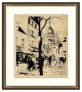 Vintage Parisian Etchings VI - One Kings Lane