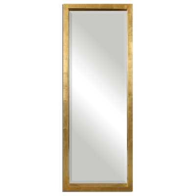 Uttermost Edmonton Gold Leaner Mirror - beachdecorshop.com
