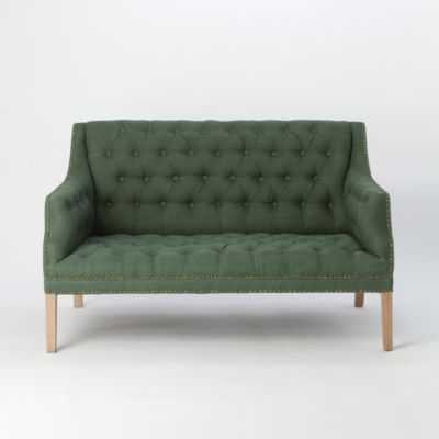 Tufted Linen Loveseat - shopterrain.com