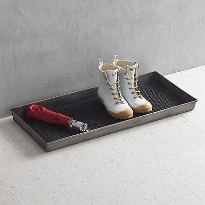 Zinc Boot Tray with Liner - Crate and Barrel