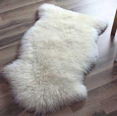 Genuine Sheepskin Rug Single Pelt Ivory 2ft x 3ft - Etsy