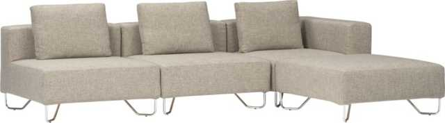 lotus 3-piece natural sectional sofa - CB2