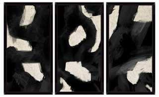 Contemporary Black Swirls Triptych - One Kings Lane