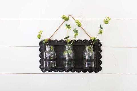 HANGING TIN FRAME WITH JARS - shop.magnoliamarket.com