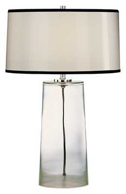 Robert Abbey Clear Glass Base with Black Trim Shade Lamp - Lamps Plus