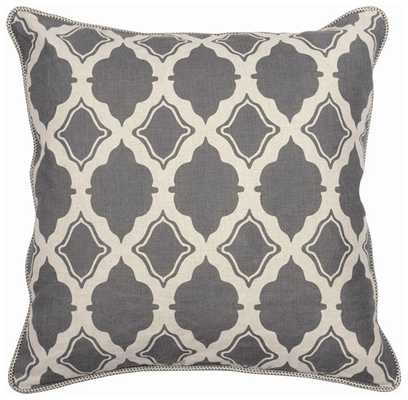 """AR Diego, Charcoal Pillow, 22""""- Insert Sold Separately - High Fashion Home"""