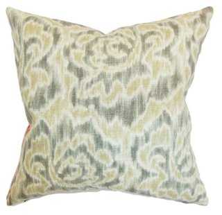 Laserena 18x18 Cotton Pillow, Sand - One Kings Lane