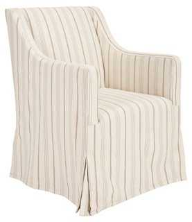 Suzie Slipcover Chair, Dove Gray - One Kings Lane