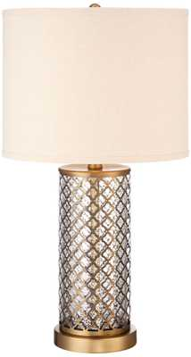 Alcazar Brass and Mercury Glass Table Lamp - Lamps Plus