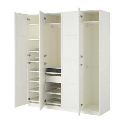 PAX Wardrobe - White - Hemnes white - Ikea