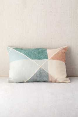 "Crewel Colorblock Bolster Pillow - 14"" x 20""-Insert not included - Urban Outfitters"