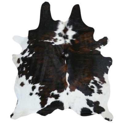 Natural Cow Hide Tricolor Area Rug - Wayfair