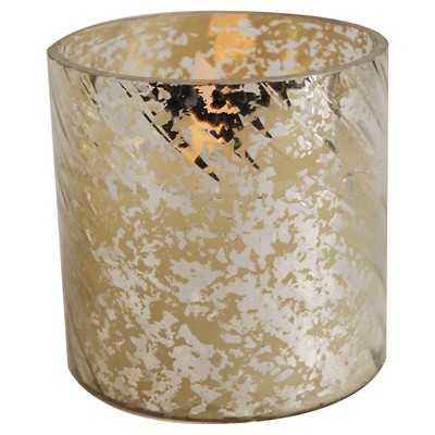 """Antique Gold Candle Holder - 7"""" - Target"""