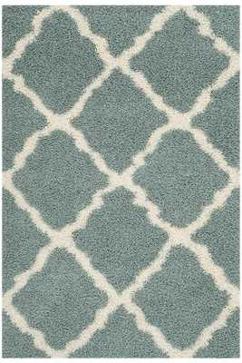 "BLISSFUL SHAG AREA RUG-Light Blue/Ivory-8""x10"" - Home Decorators"