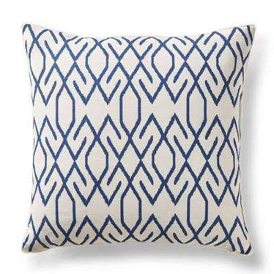 "Zoe Ikat Decorative Pillow, 20"" sq, down insert - Frontgate"