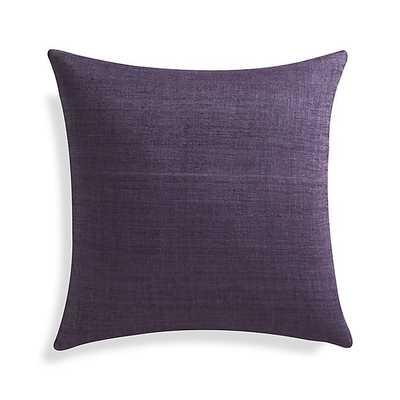"Michaela Grape Purple 20"" Pillow with Down-Alternative Insert - Crate and Barrel"