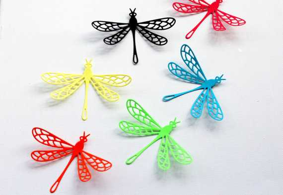 Multicolored - Dragonfly Wall Art -Set of 24 - Etsy