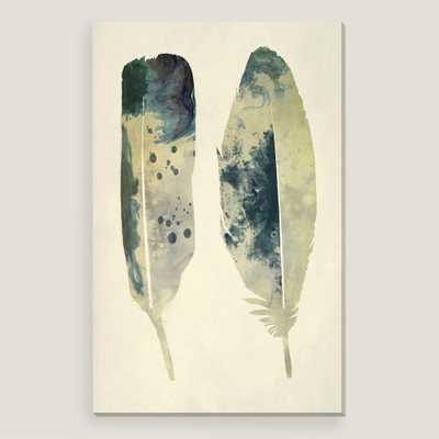 """Spotted Feathers Wall Art - 26""""W x 40""""H - Unframed - World Market/Cost Plus"""