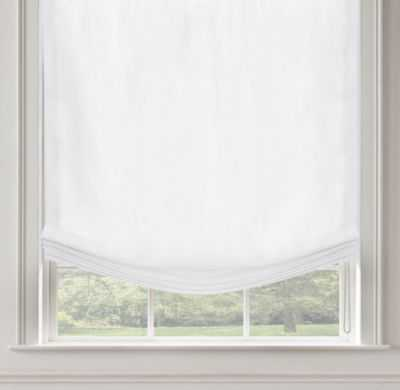 WASHED BELGIAN LINEN RELAXED ROMAN SHADE - RH