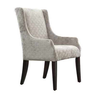 INSPIRE Q Jourdan Grey Link Sloped Arm Hostess Chair - Overstock
