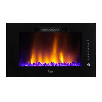 Luxury Linear Multicolor Flame Electric Fireplace - Wayfair