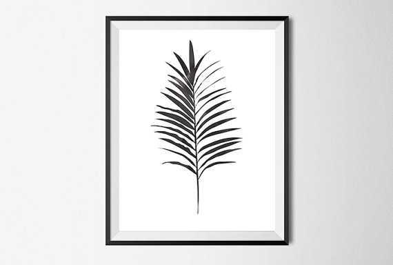 Palm Leave Print, Wall Art - Etsy